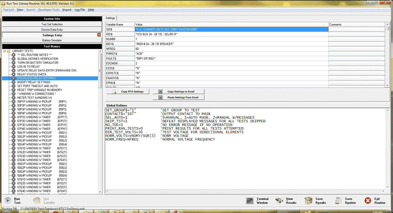 Enoserv Rts 174 Protection Testing Software Doble