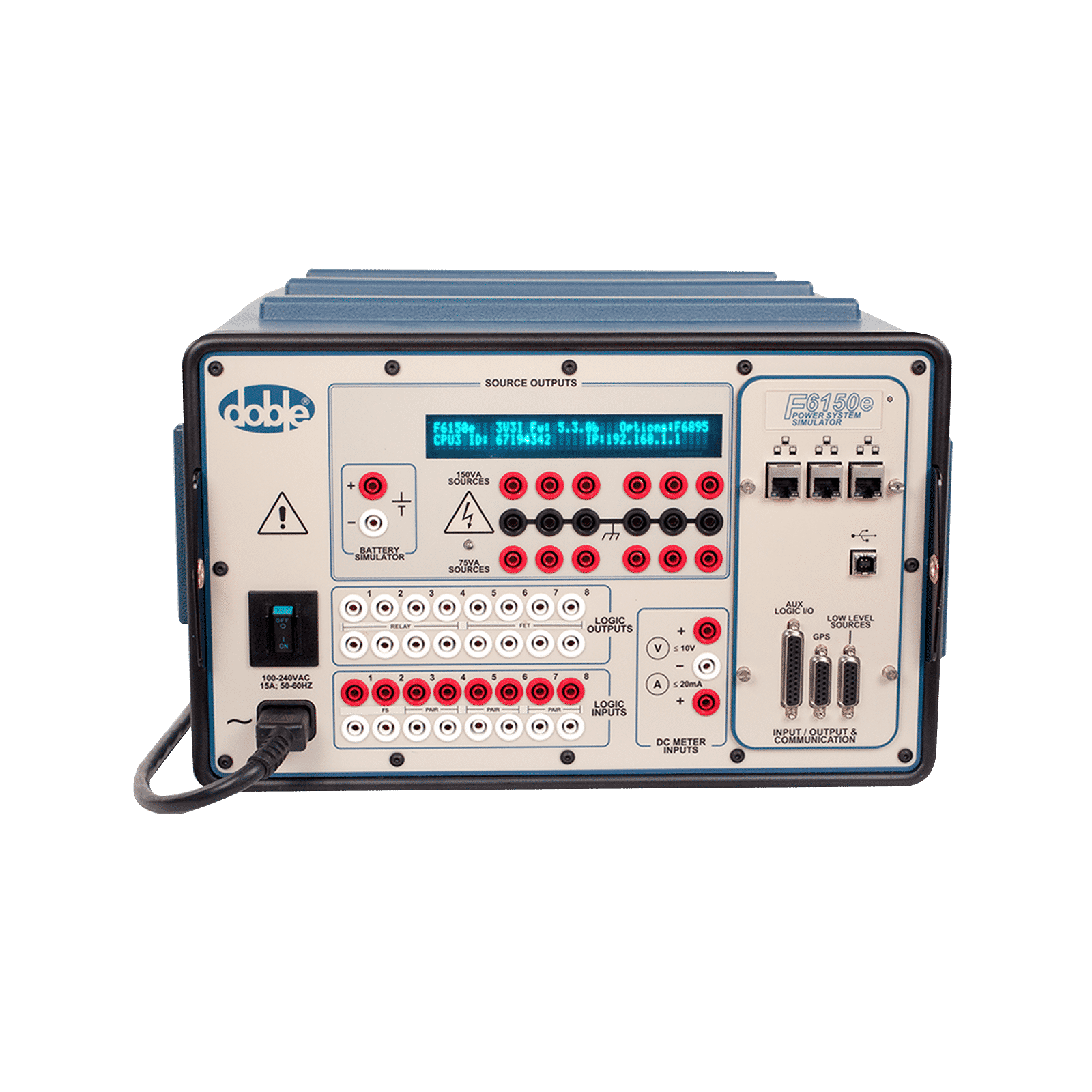 F6150e Protective Relay Tester Doble Engineering Company Current Based Product